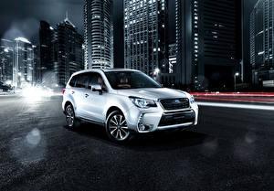 Hintergrundbilder Subaru Weiß 2016 Forester 2.0XT  Brown Leather Selection auto