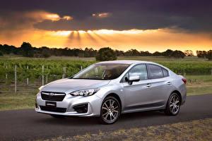 Sfondi desktop Subaru D'argento 2016 Impreza Sedan 2.0i macchine
