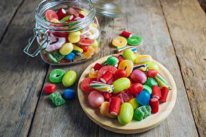 Hintergrundbilder Süßigkeiten Bonbon Marmelade Bretter Weckglas Lebensmittel