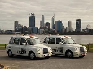 Sfondi desktop Taxi - Auto Due 2 Bianco 2010-17 London Taxi Company TX4 macchina