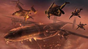 Fotos Flugzeuge Wandelflugzeug Krieger Bomber Fantasy