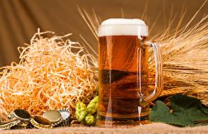 Image Beer Humulus Mug Foam Spikes Straw