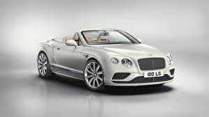 Fotos Bentley Weiß Metallisch Cabriolet Luxus 2017 Continental GT V8 Convertible -Galene Edition by Mulliner