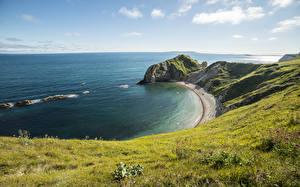 Bilder Küste Vereinigtes Königreich Horizont Durdle Door, la Manche