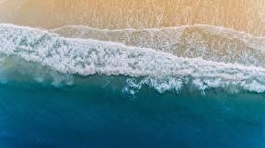 Bilder Küste Wasserwelle USA Von oben Florida Palm Coast Natur