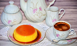 Bilder Kaffee Gelee Tasse Krüge Teller