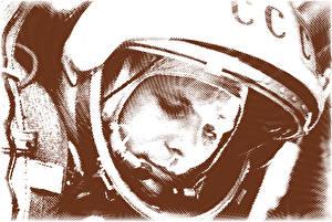 Photo Astronaut Yuri Gagarin Helmet USSR Space Celebrities