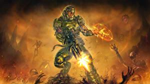 Wallpaper Doom Warriors Magic Firing Armour 4. Cyberdemon vdeo game