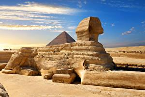Bilder Ägypten Wüste Cairo, Great Sphinx of Giza