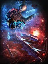 Bakgrunnsbilder Bokillustrasjoner Magi Romskip Hjelm Ender's Game Fantasy
