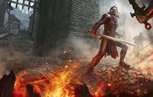 Bakgrunnsbilder Bokillustrasjoner Kriger Ild Sverd Legends of Erodhar: The stick of Argoroth