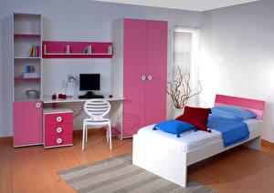 Hintergrundbilder Innenarchitektur Kinderzimmer Design Bett 3D-Grafik