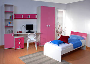 Photo Interior Children's room Design Bed 3D_Graphics