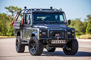 Bilder Land Rover Graue Metallisch 2017 East Coast Defender Viper automobil
