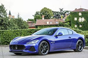 Hintergrundbilder Maserati Metallisch Luxus Blau 2017 GranTurismo Sport auto