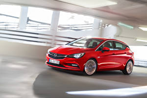 Bilder Opel Rot Fahrendes Astra 2015 Autos