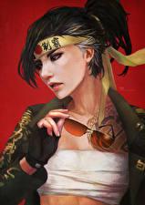Wallpapers Overwatch Glasses Hanzo Games Girls