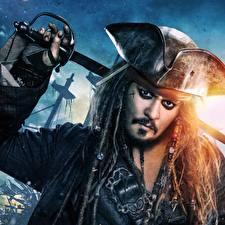 Photo Pirates of the Caribbean: Dead Men Tell No Tales Locs Johnny Depp Pirates Hat Movies
