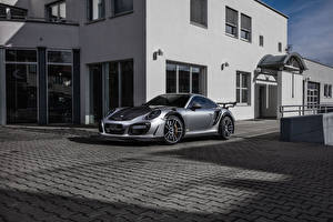 Image Porsche Tuning Silver color 2016-17 TechArt 911 Turbo GT Street R (991) Cars