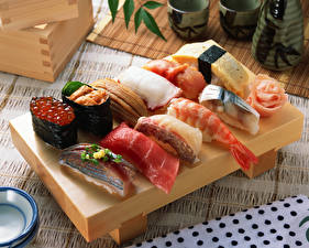 Bilder Meeresfrüchte Sushi Fische - Lebensmittel Kaviar das Essen