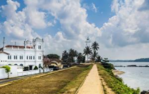 Fotos Sri Lanka Haus Küste Leuchtturm Himmel Wolke Galle fort Städte