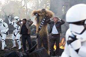 Wallpaper Star Wars: The Force Awakens Clone trooper Harrison Ford Chewbacca film Celebrities