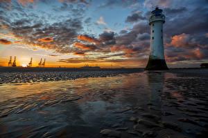 Fotos Vereinigte Staaten Landschaftsfotografie Sonnenaufgänge und Sonnenuntergänge Leuchtturm Himmel Küste Wolke Shoreline Natur