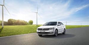 Hintergrundbilder Volkswagen Weiß Limousine 2015 Lavida Autos