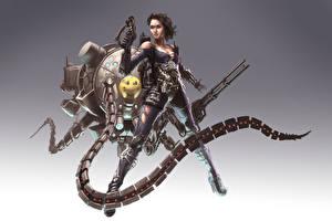 Picture Warrior Pistols Technics Fantasy Silvia Girls