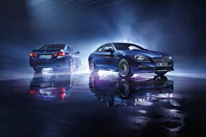 Wallpaper BMW Light Blue Reflection Alpine Cars