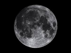Fotos Nahaufnahme Mond Schwarzweiss Kosmos