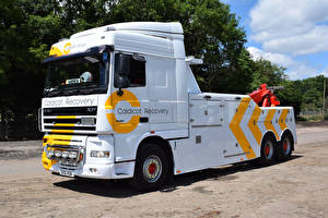 Wallpapers DAF Trucks Lorry White XF105 Space Cab auto