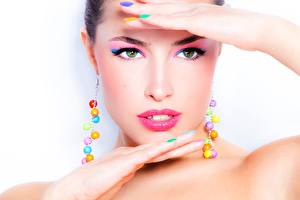 Pictures Face Makeup Staring Model Beautiful