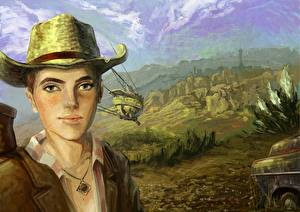 Picture Fallout Hat Young man New Vegas, Cass Games Fantasy