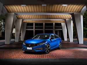 Fotos Honda Blau 2016-17 Civic Sedan RS Autos