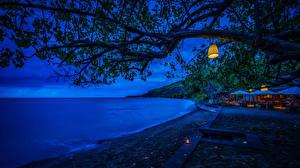 Hintergrundbilder Indonesien Tropen Resort Küste Ast Nacht Bali Natur