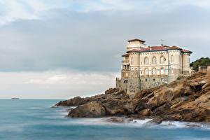Image Italy Castles Coast Boccale Castle Cities
