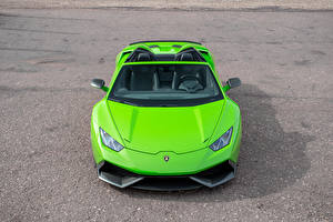 Images Lamborghini Lime color Roadster Front Novitec Torado Cars