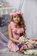 Photo Little girls Model Glance Children