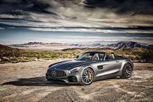 Hintergrundbilder Mercedes-Benz Grau Roadster AMG GT-Class R190