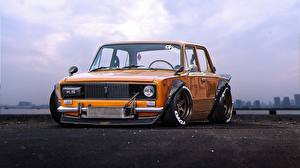Hintergrundbilder Russische Autos Lada Tuning Orange 2106, Future, JDM, VAZ, by Khyzyl Saleem
