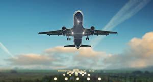 Hintergrundbilder Flugzeuge Himmel Verkehrsflugzeug Flug Luftfahrt
