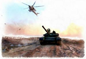 Bilder Panzer Hubschrauber Gezeichnet Russische Syria Militär