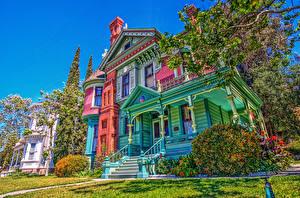 Bilder Vereinigte Staaten Gebäude Retro Kalifornien Design Strauch HDR Heritage Square Museum Städte