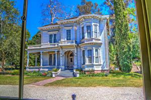 Pictures USA Retro Houses California Design HDR Heritage Square Museum Cities
