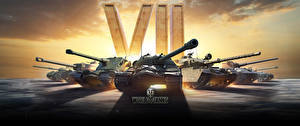 Papel de Parede Desktop World of Tanks Carro de combate Russa Alemão Britanico 7 years Jogos