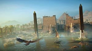 Fotos Assassin's Creed Origins Ägypten Boot Segeln computerspiel 3D-Grafik
