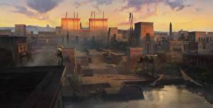 Hintergrundbilder Assassin's Creed Origins Ägypten Krieger computerspiel