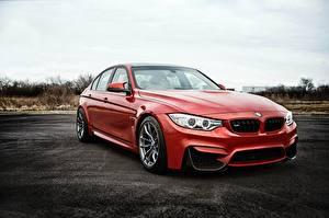 Hintergrundbilder BMW Rot F80 Autos