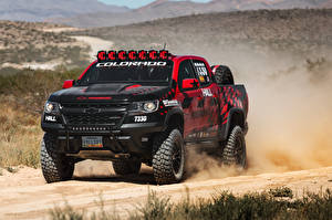 Wallpapers Chevrolet Tuning 2017 Hall Racing Colorado ZR2 Extended Cab auto